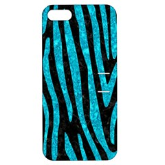 Skin4 Black Marble & Turquoise Marble (r) Apple Iphone 5 Hardshell Case With Stand