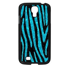 Skin4 Black Marble & Turquoise Marble (r) Samsung Galaxy S4 I9500/ I9505 Case (black)