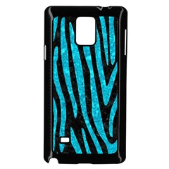 Skin4 Black Marble & Turquoise Marble (r) Samsung Galaxy Note 4 Case (black)