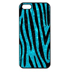 Skin4 Black Marble & Turquoise Marble Apple Iphone 5 Seamless Case (black)