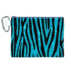 Skin4 Black Marble & Turquoise Marble Canvas Cosmetic Bag (xl)