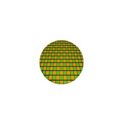 Tile Of Yellow And Green 1  Mini Magnets