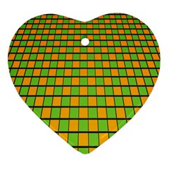 Tile Of Yellow And Green Ornament (heart)