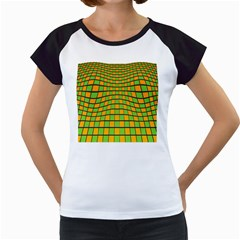 Tile Of Yellow And Green Women s Cap Sleeve T