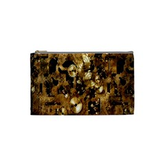 Steampunk Grunge Gold Cogs Cosmetic Bag (small)