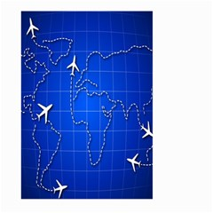 Unique Air Travel World Map Blue Sky Large Garden Flag (two Sides)