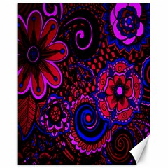 Sunset Floral Flower Red Pink Jewel Box Canvas 16  X 20