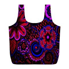 Sunset Floral Flower Red Pink Jewel Box Full Print Recycle Bags (l)
