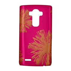 Yellow Flowers On Pink Background Pink LG G4 Hardshell Case