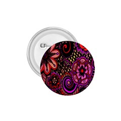 Sunset Floral  Flower Purple 1 75  Buttons