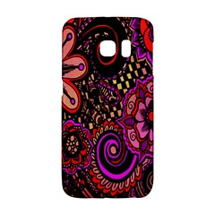 Sunset Floral  Flower Purple Galaxy S6 Edge