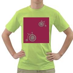 Rose Pink Fushia Green T Shirt