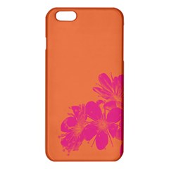 Flower Orange Pink iPhone 6 Plus/6S Plus TPU Case
