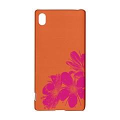 Flower Orange Pink Sony Xperia Z3+