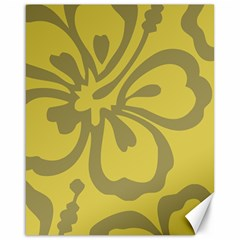 Flower Gray Yellow Canvas 16  X 20