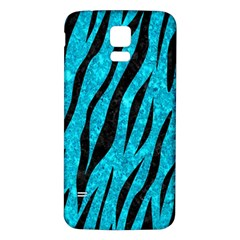 Skin3 Black Marble & Turquoise Marble (r) Samsung Galaxy S5 Back Case (white)