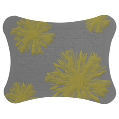 Flower Yellow Gray Jigsaw Puzzle Photo Stand (Bow)