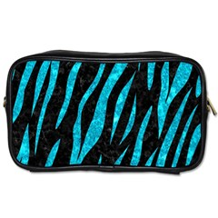 Skin3 Black Marble & Turquoise Marble Toiletries Bag (one Side)