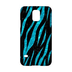 Skin3 Black Marble & Turquoise Marble Samsung Galaxy S5 Hardshell Case