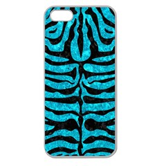 Skin2 Black Marble & Turquoise Marble (r) Apple Seamless Iphone 5 Case (clear)
