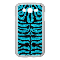 Skin2 Black Marble & Turquoise Marble (r) Samsung Galaxy Grand Duos I9082 Case (white)