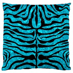 Skin2 Black Marble & Turquoise Marble (r) Standard Flano Cushion Case (one Side)
