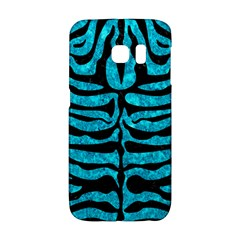 Skin2 Black Marble & Turquoise Marble (r) Samsung Galaxy S6 Edge Hardshell Case