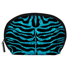 Skin2 Black Marble & Turquoise Marble Accessory Pouch (large)