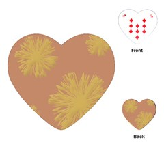 Flower Yellow Brown Playing Cards (heart)