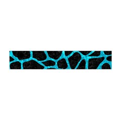 Skin1 Black Marble & Turquoise Marble (r) Flano Scarf (mini)