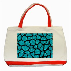 Skin1 Black Marble & Turquoise Marble Classic Tote Bag (red)