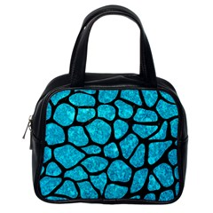 Skin1 Black Marble & Turquoise Marble Classic Handbag (one Side)