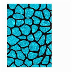 Skin1 Black Marble & Turquoise Marble Large Garden Flag (two Sides)