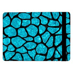 Skin1 Black Marble & Turquoise Marble Samsung Galaxy Tab Pro 12 2  Flip Case