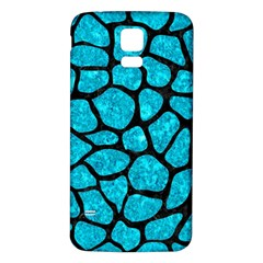 Skin1 Black Marble & Turquoise Marble Samsung Galaxy S5 Back Case (white)
