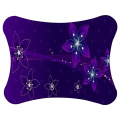 Flowers Purple Jigsaw Puzzle Photo Stand (Bow)