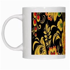 Flower Yellow Green Red White Mugs