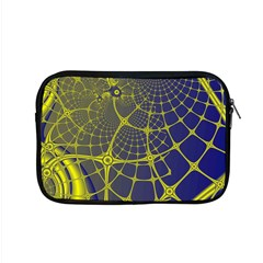 Futuristic Looking Fractal Graphic A Mesh Of Yellow And Blue Rounded Bars Apple Macbook Pro 15  Zipper Case