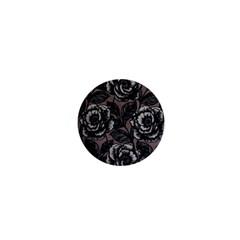 Gray Flower Rose 1  Mini Magnets
