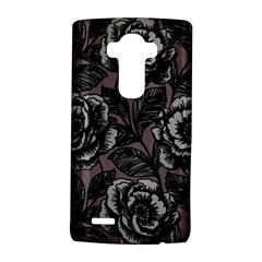 Gray Flower Rose LG G4 Hardshell Case