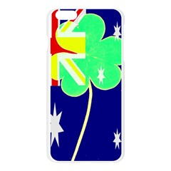 Irish Australian Australia Ireland Shamrock Funny St Patrick Flag Apple Seamless iPhone 6 Plus/6S Plus Case (Transparent)