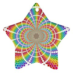 Color Background Structure Lines Ornament (Star)