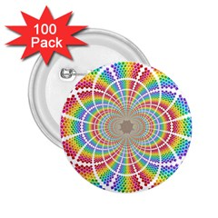 Color Background Structure Lines 2 25  Buttons (100 Pack)