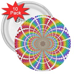 Color Background Structure Lines 3  Buttons (10 pack)