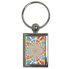 Color Background Structure Lines Key Chains (rectangle)