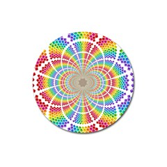Color Background Structure Lines Magnet 3  (round)