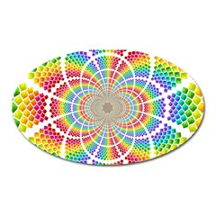 Color Background Structure Lines Oval Magnet