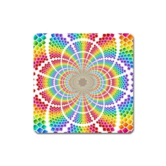 Color Background Structure Lines Square Magnet