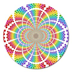 Color Background Structure Lines Magnet 5  (round)