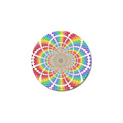 Color Background Structure Lines Golf Ball Marker